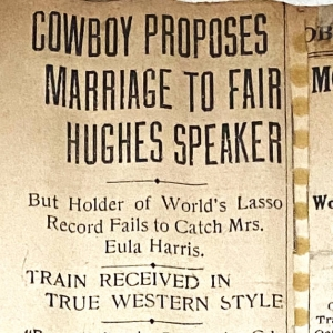 Cowboy Proposes Marriage to Fair Hughes Speaker