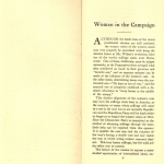 Women In the Campaign by Frances A. Kellor