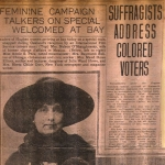 Clipping about speaking to colored voters