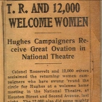 TR and 12,000 Welcome Women - Hughes Campaigners Receive Great Ovation in National Theatre
