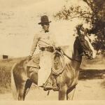 Two cowboys send postcards to Elisabeth Freeman