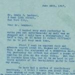 Elisabeth Freeman to Louis P. Lochner, page 1