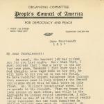 Louis P. Lochner to Elisabeth Freeman, page 1