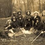 Suffrage pilgrimage announced, Elisabeth Freeman as gypsy