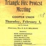 Triangle Fire Protest Meeting