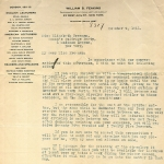 Letter from Agent William B. Feakins to EF engaging her as a speaker