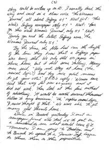 Elisabeth Freeman to Agnes E. Ryan, p3