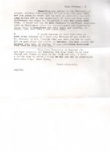 Agnes E. Ryan to Elisabeth Freeman, p2