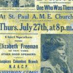 Anti-Lynching Poster - Elisabeth Freeman, Speaker