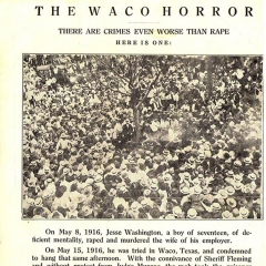 NAACP Brochure for Anti-Lynching Campaign
