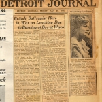 Account of lynching and EF speaking tour, Detroit Journal