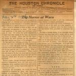 Editorial Houston Chronicle  denouncing lynching of Jesse Washington