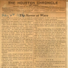 Editorial Houston Chronicle  denouncing lynching of Jesse Washington