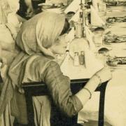 Detail of Elisabeth Freeman, speaker at banquet in Wilmington DE 1912