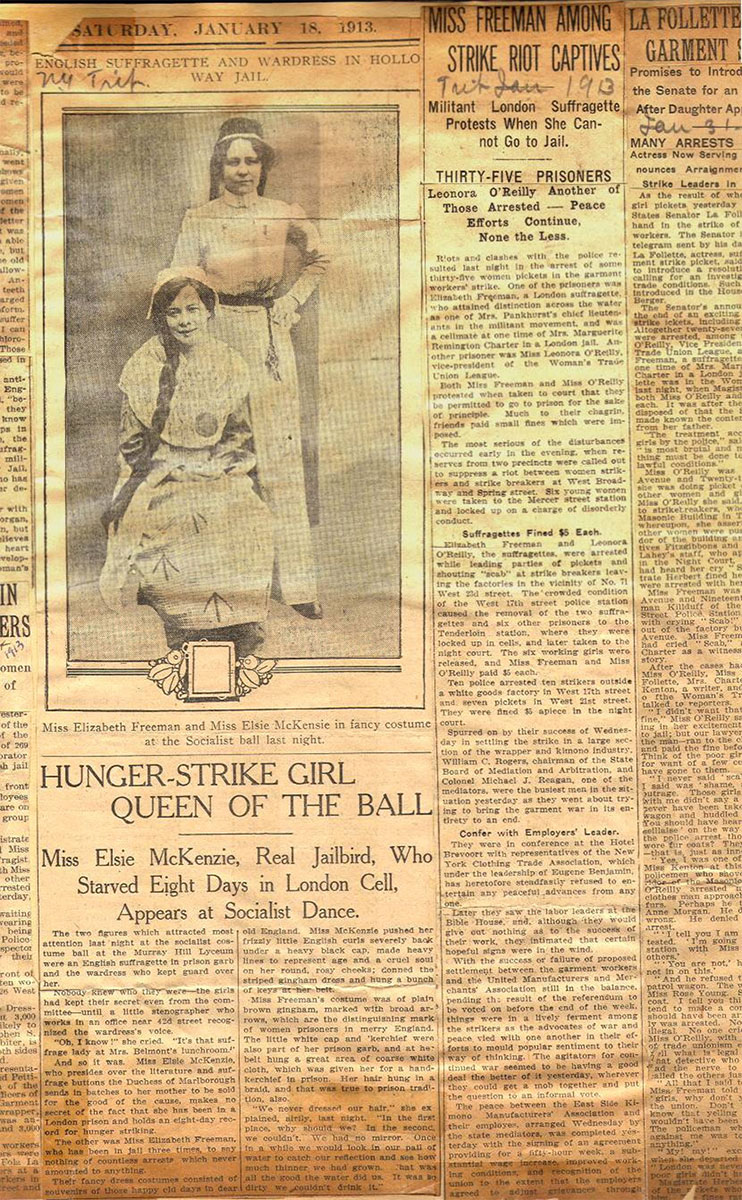 Elisabeth Freeman, Hunger-Strike Girl Queen of the Ball