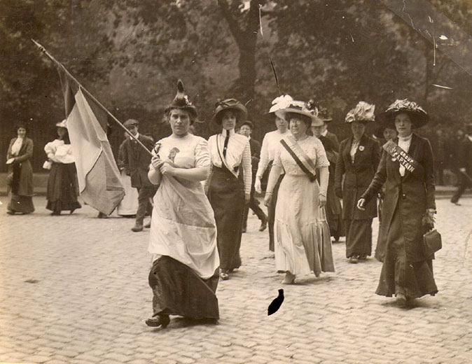 Elisabeth Freeman, Suffrage Parade